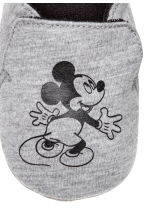 Soft slippers - Grey marl/Mickey Mouse -  | H&M CN 4