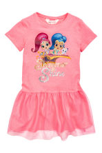 Dress with a tulle skirt - Pink/Shimmer and Shine - Kids | H&M 2
