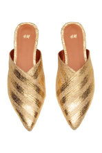 Mules - Gold - Ladies | H&M 2
