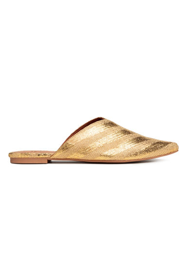 Mules - Gold - Ladies | H&M 1
