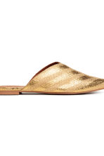 Mules - Gold - Ladies | H&M 4