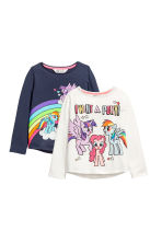 2-pack long-sleeved tops - Blue/My Little Pony - Kids | H&M CN 2