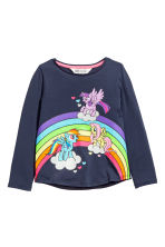 2-pack long-sleeved tops - Blue/My Little Pony - Kids | H&M CN 3
