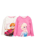 Lot de 2 tops - Rose/La Reine des neiges - ENFANT | H&M FR 2