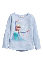 2-pack long-sleeved tops - Light blue/Frozen -  | H&M 2