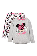 2-pack long-sleeved tops - Grey/Minnie Mouse -  | H&M CN 2