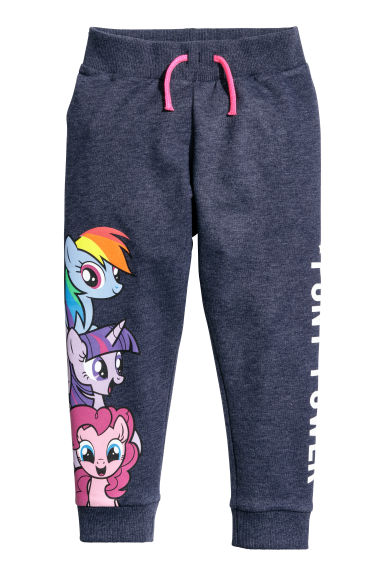 圖案慢跑褲 - Dark blue/My Little Pony -  | H&M 1