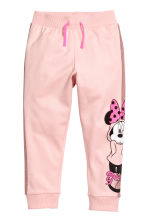 Printed joggers - Light pink/Minnie Mouse - Kids | H&M 2