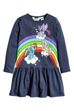 圖案平紋洋裝 - Dark blue/My Little Pony -  | H&M 2