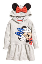 連帽運動洋裝 - Grey/Minnie Mouse -  | H&M 2