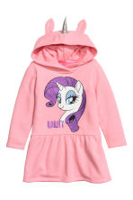 Hooded sweatshirt dress - Pink/My Little Pony -  | H&M 1