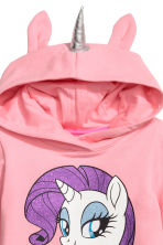 Hooded sweatshirt dress - Pink/My Little Pony -  | H&M 2