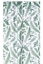 2-pack patterned curtains - White/Leaves - Home All | H&M CN 2