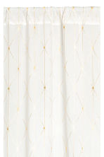 Cotton curtain length - White/Gold - Home All | H&M CN 2