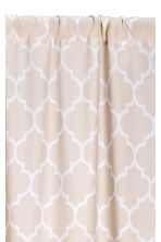 2-pack curtain lengths - Light beige - Home All | H&M CN 2