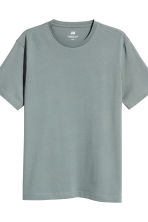 3-pack T-shirts Regular fit - Dark grey/Grey marl/Grey-Green - Men | H&M 4