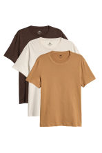 3-pack T-shirts Regular fit - Light beige - Men | H&M CA 2