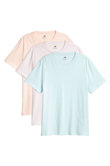 3-pack T-shirts Regular fit - Purple - Men | H&M 1