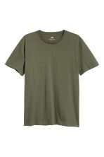 3-pack T-shirts Regular fit - Black marl/Khaki green/White - Men | H&M CN 2