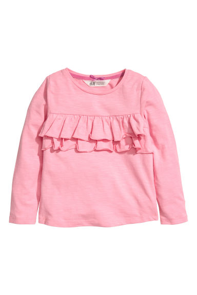 Jersey top with a motif - Pink - Kids | H&M CN