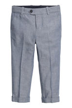 Cotton suit trousers - Dark blue/White - Kids | H&M CA 2