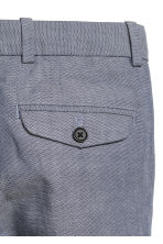 Cotton suit trousers - Dark blue/White - Kids | H&M CA 3