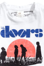 T-shirt med tryck - Vit/The Doors - Kids | H&M FI 2