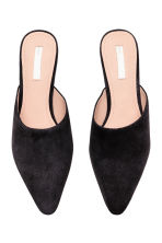 Suede mules - Black - Ladies | H&M CN 3