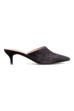 Suede mules - Black - Ladies | H&M CN 2