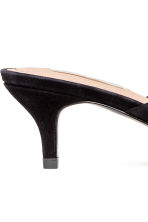 Suede mules - Black - Ladies | H&M CN 5