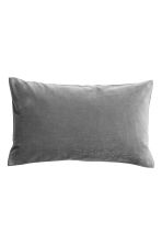 Velvet cushion cover - Dark grey - Home All | H&M CA 1
