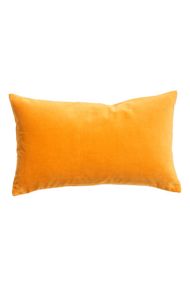 Velvet cushion cover - Mustard yellow - Home All | H&M CN 1