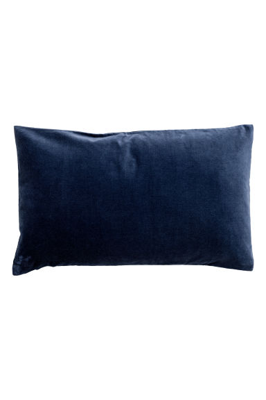 Velvet cushion cover - Dark blue - Home All | H&M CN