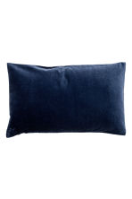 Velvet cushion cover - Dark blue - Home All | H&M CN 1