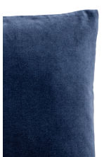 Velvet cushion cover - Dark blue - Home All | H&M CA 2