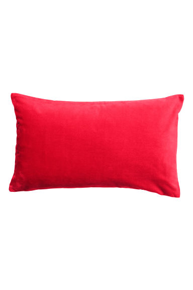 Housse de coussin en velours - Rouge - Home All | H&M FR