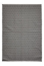 Cotton jacquard-weave rug - White/Anthracite - Home All | H&M CA 1