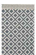 Patterned cotton rug - Natural white/Dark blue - Home All | H&M CN 2
