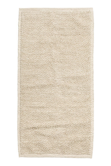 Wool-blend rug - Light beige - Home All | H&M CA