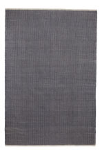 Grand tapis en coton - Bleu foncé - Home All | H&M CA 1