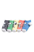 5-pack shaftless socks - Blue/Snoopy - Kids | H&M 2