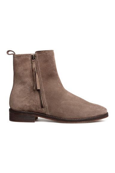 Suede ankle boots - Mole - Ladies | H&M
