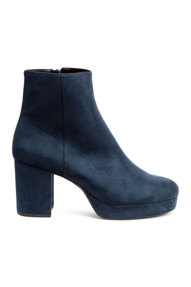 Platform ankle boots - Dark blue - Ladies | H&M CN