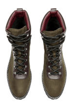 Warm-lined boots - Khaki green - Ladies | H&M CN 2