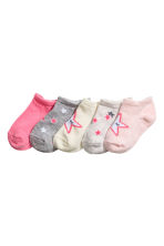 5雙入隱形襪 - Light pink/Stars - Kids | H&M 1