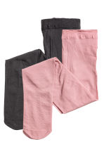 2-pack microfibre tights - Pink - Kids | H&M 1