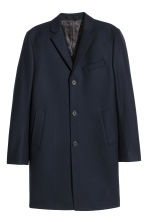 Cashmere-blend coat - Dark blue - Men | H&M 2