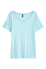 Modal-blend T-shirt - Light blue - Men | H&M CN 2