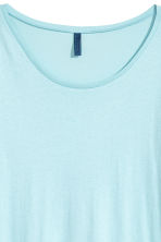 Modal-blend T-shirt - Light blue - Men | H&M CN 3