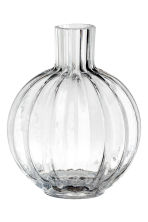 Clear glass mini vase - Clear glass - Home All | H&M CN 1